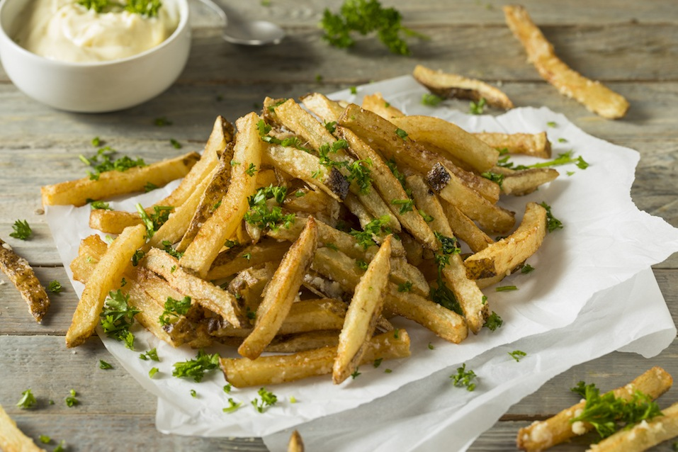 Homemade Parmesan Truffle French Fries