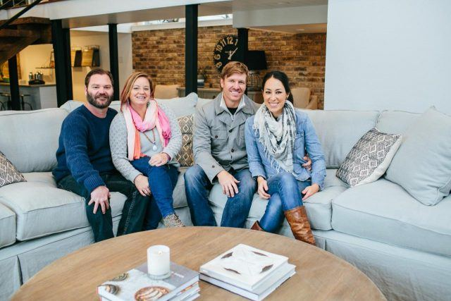 Homeowners with Chip and Joanna on HGTV's 'Fixer Upper'