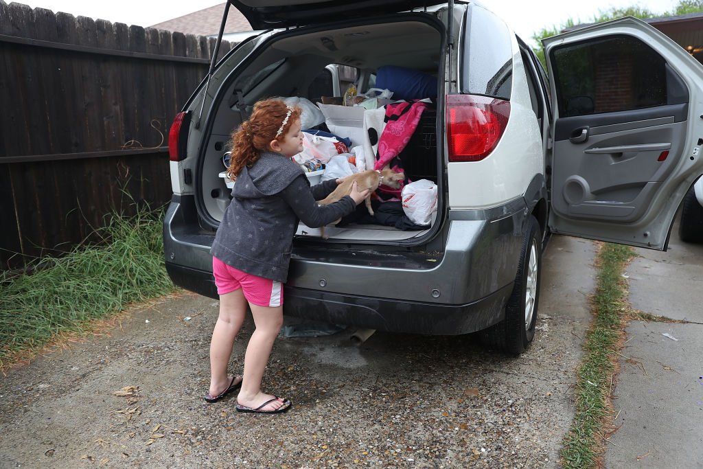 Lilyann Lewis packs the vehicle