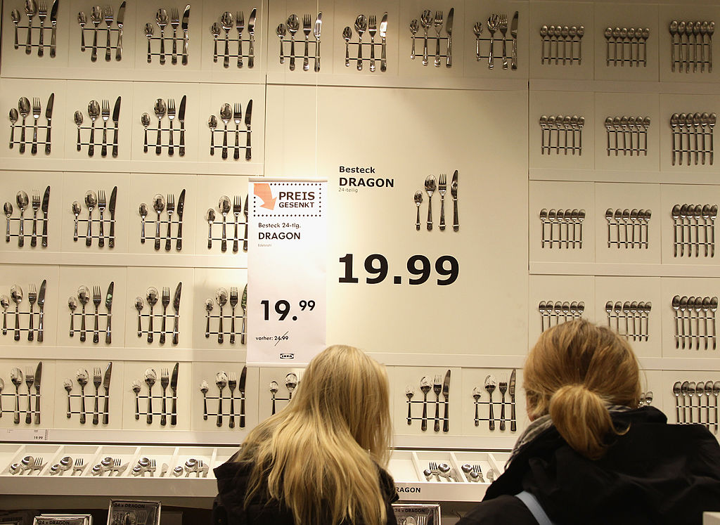Customers stroll during a store opening at the 4th Ikea chain store in Berlin