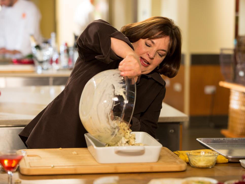 Ina Garten prepares a meal