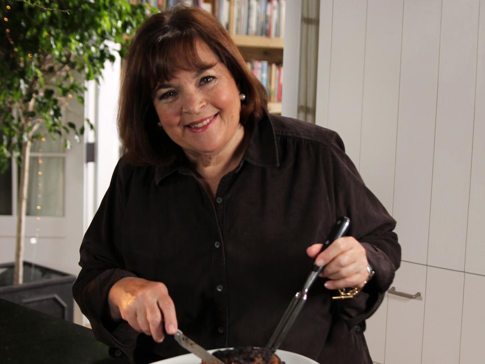 Ina Garten prepares dinner