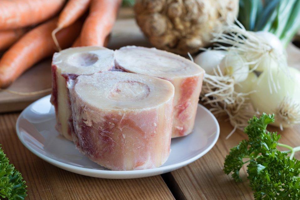 Ingredients for making a beef bone broth