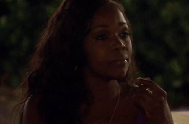 Jasmine Goode chokes up and cries while talking to Nick.