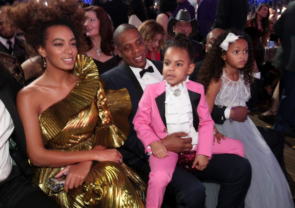 Solange, Jay-Z and Blue Ivy at the Grammy Awards