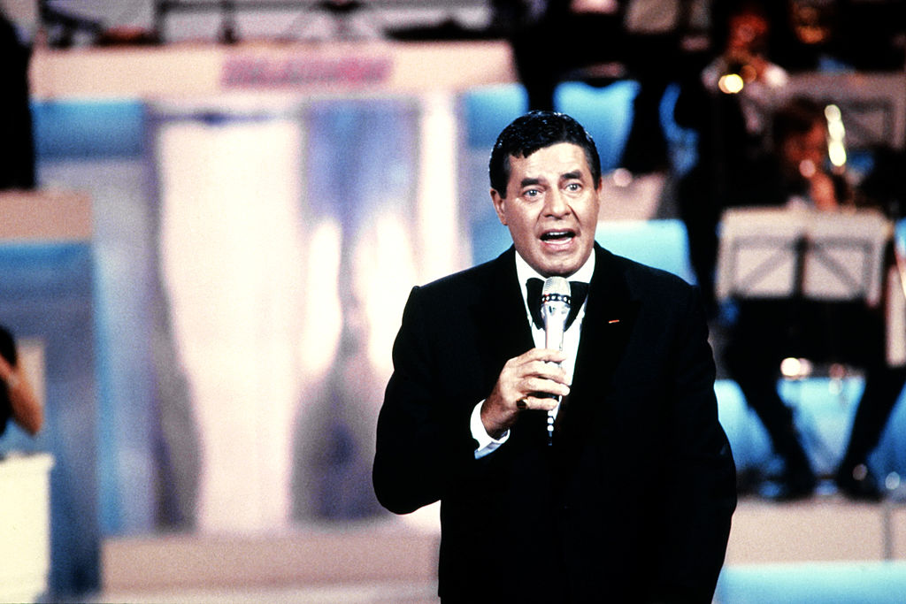 Jerry Lewis attends the Telethon.