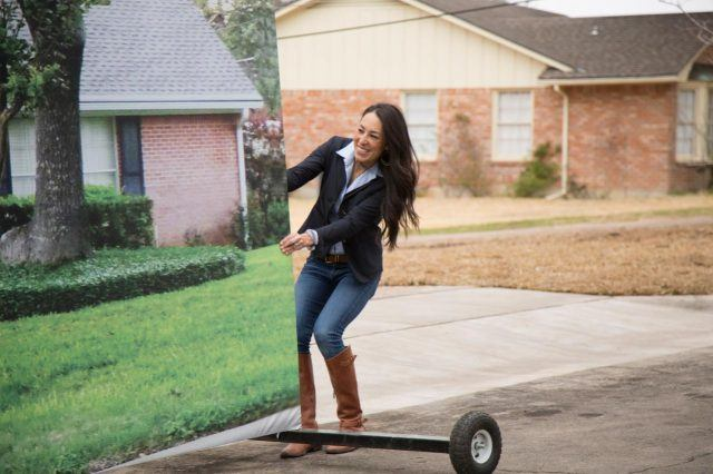 Joanna Gaines reveals a house on HGTV's 'Fixer Upper'.