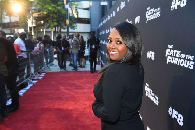 Keshia Knight Pulliam poses for photos on the red carpet.