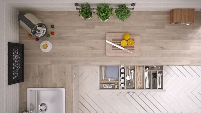 Kitchen Top View : Simple sensible space saving hacks inspired by tiny home