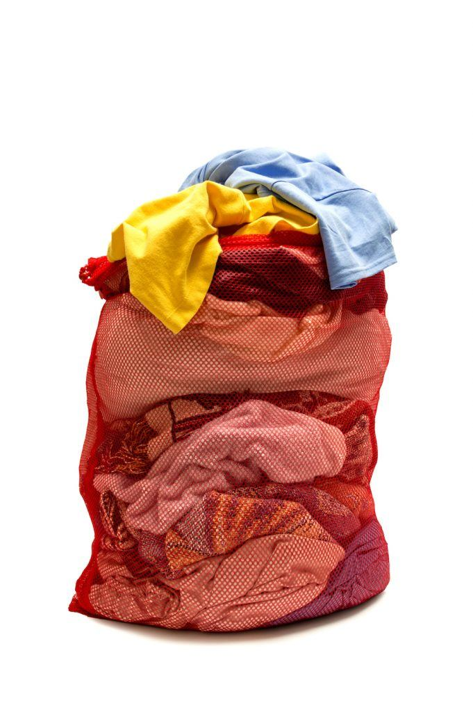 Laundry Stuffed In Laundry Bag