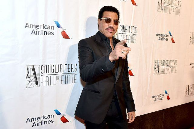 Lionel Richie poses for photos at the Songwriters Hall of Fame Induction.