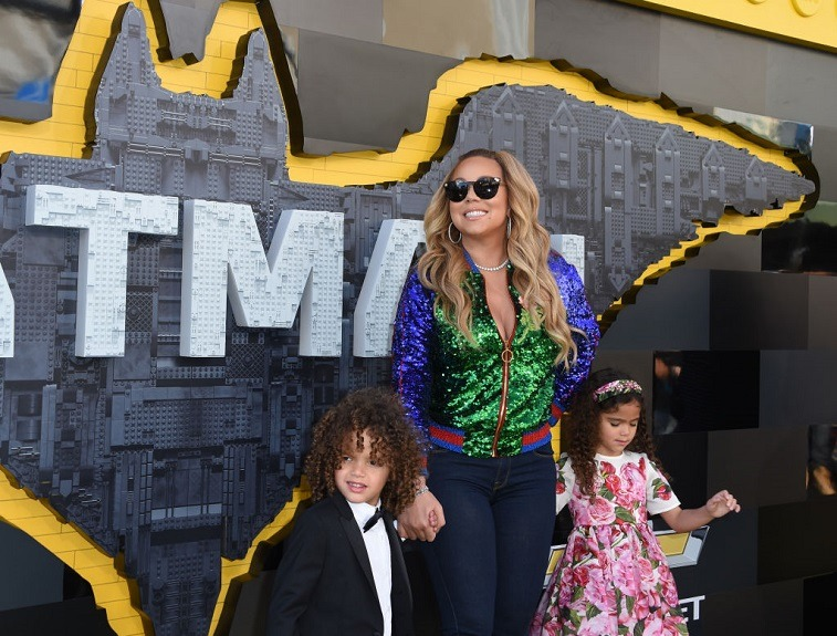 Mariah Carey attends movie premiere with children
