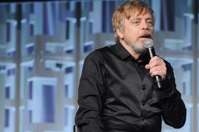 Mark Hamill speaking at the 2017 Star Wars Celebration Day