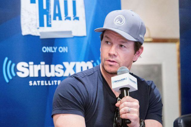 Mark Wahlberg speaks into a microphone while at SiriusXM's 'Town Hall' With the Cast of 'Transformers: The Last Knight'.