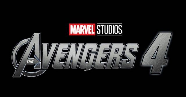 The Avengers 4 logo on a black background
