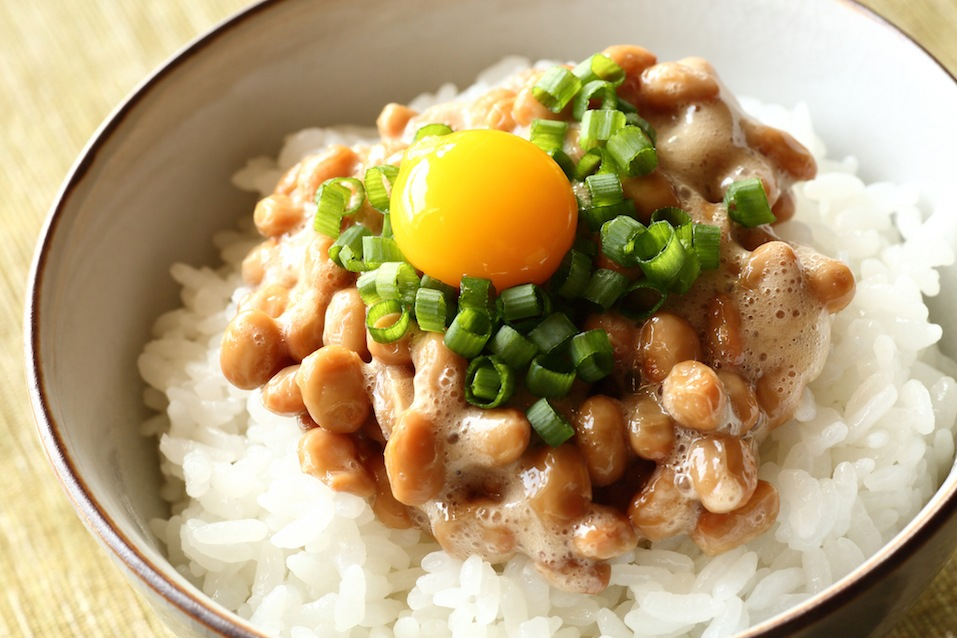 Japanese cuisine / fermented soybeans with rice
