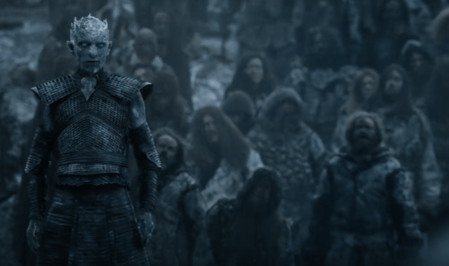 Night King standing in front of his army