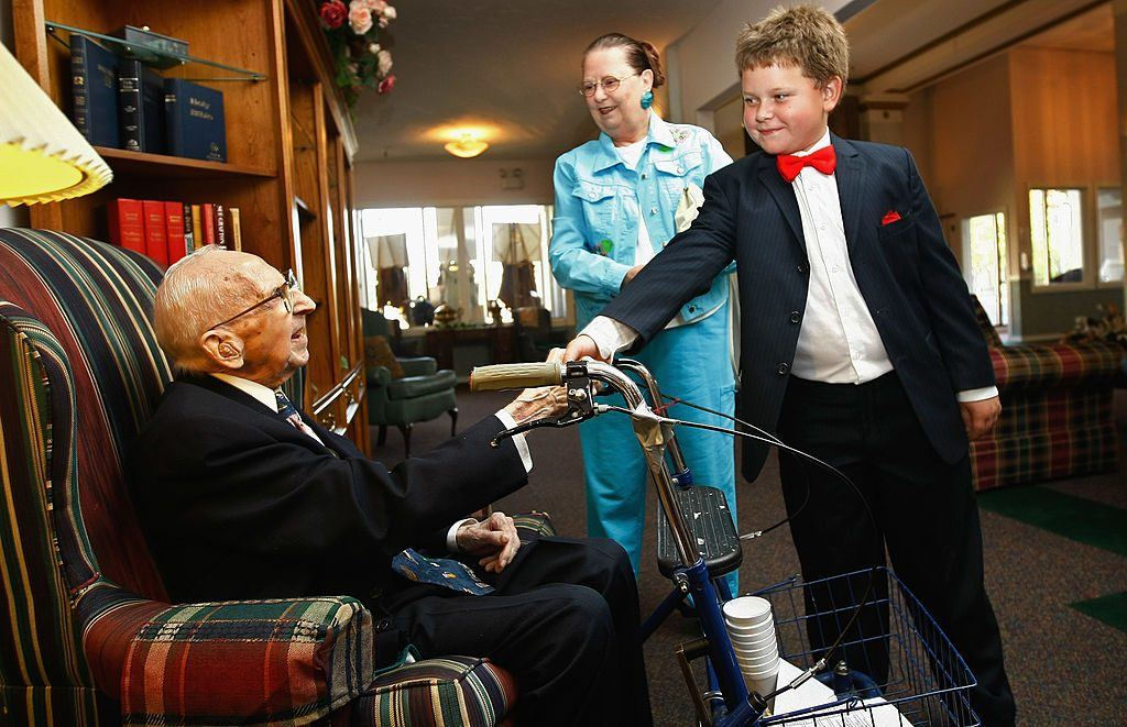 Oldest Man Celebrates Birthday