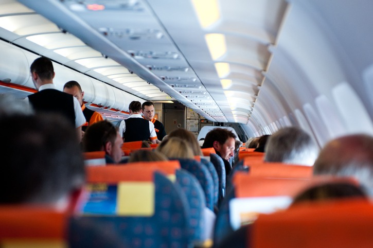 Flight crew and passengers on board