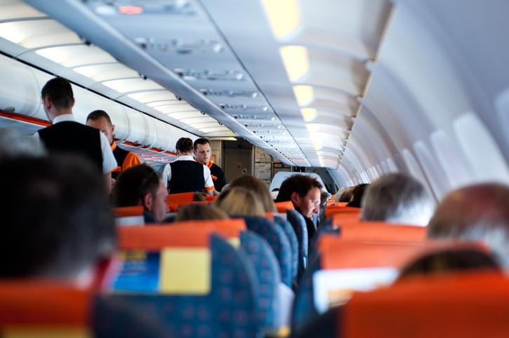 Flight crew and passengers on board