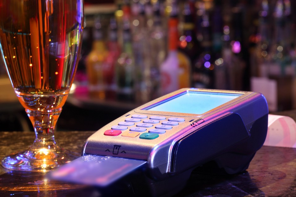 using credit card at bar