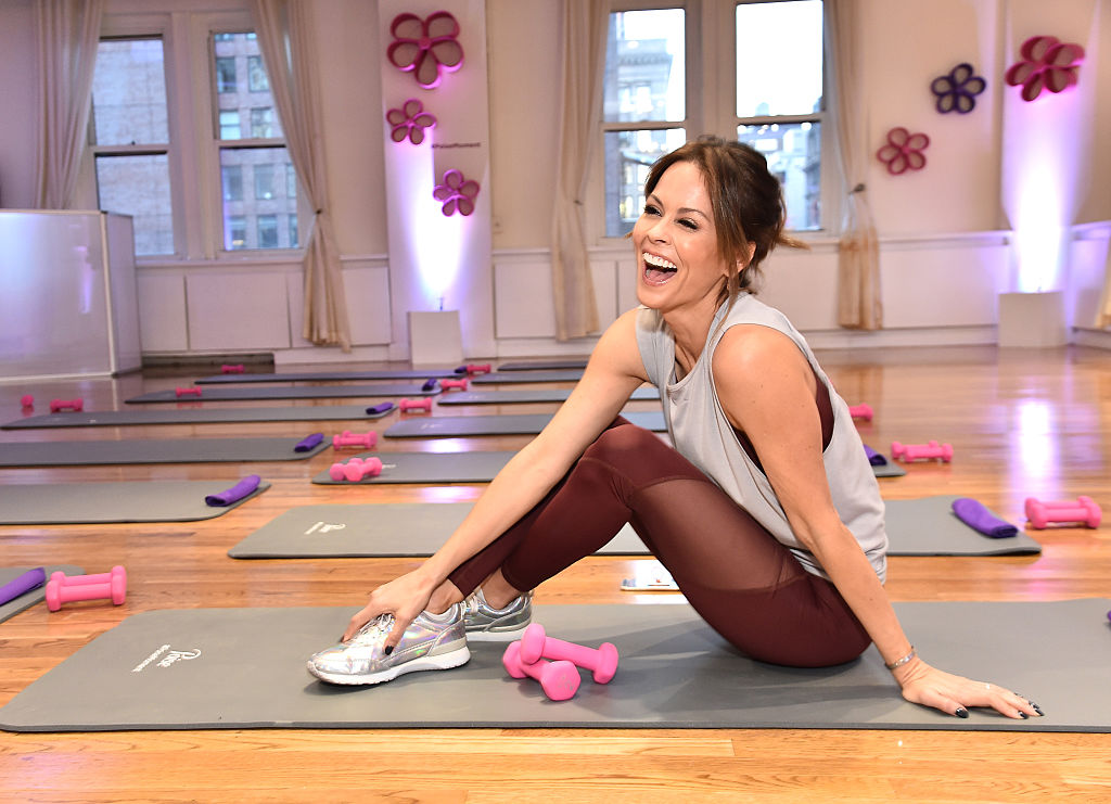 Celebrity host and fitness expert, Brooke Burke-Charvet, teaching an exclusive pelvic fitness class