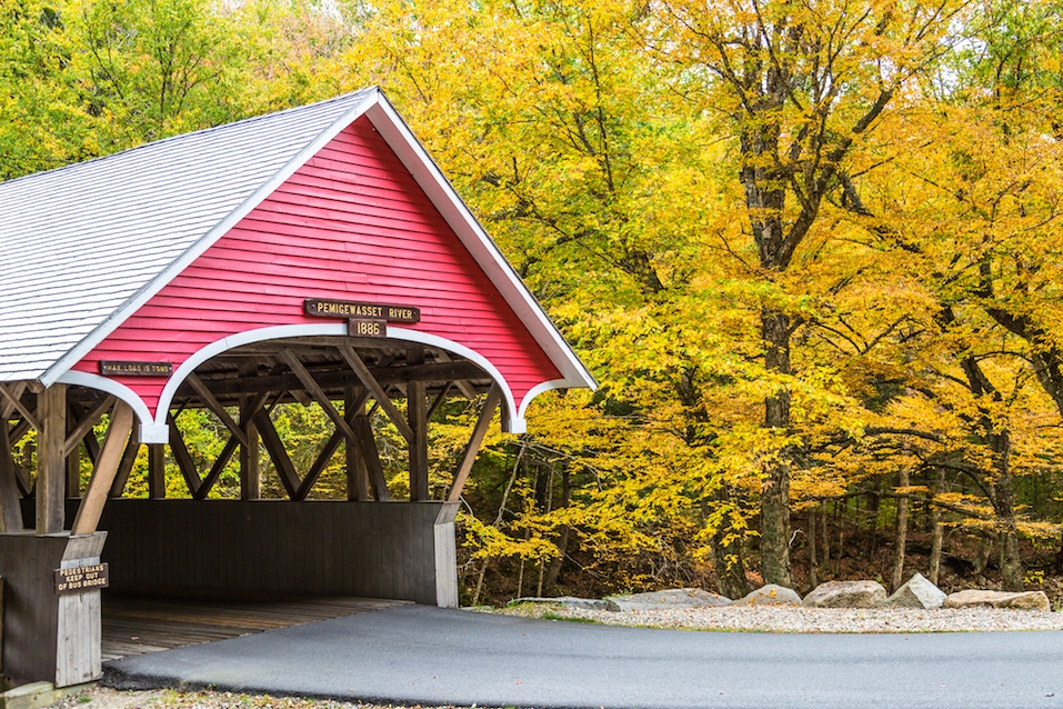 Pemigewasset river covered bridge