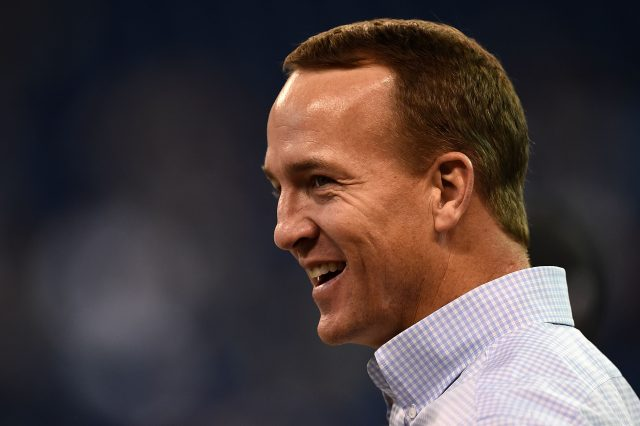 INDIANAPOLIS, IN - NOVEMBER 20: Former Indianapolis Colts quarterback Peyton Manning watches action prior to a game between the Indianapolis Colts and the Tennessee Titans at Lucas Oil Stadium on November 20, 2016 in Indianapolis, Indiana. (Photo by Stacy Revere/Getty Images)
