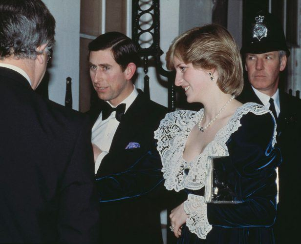 Princess Diana and Prince Charles seen attending a dinner for the British Film Institute.