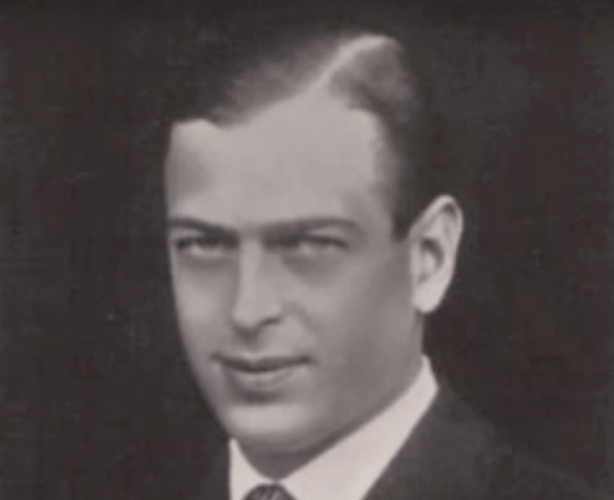 A black and white photograph of Prince George.