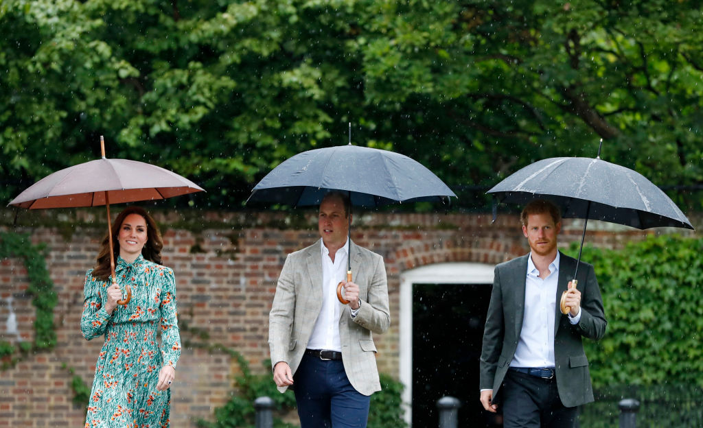 Prince William and Family Visit Princess Diana's Palace Garden