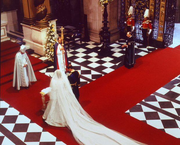 Prince Charles and Princess Diana's wedding.