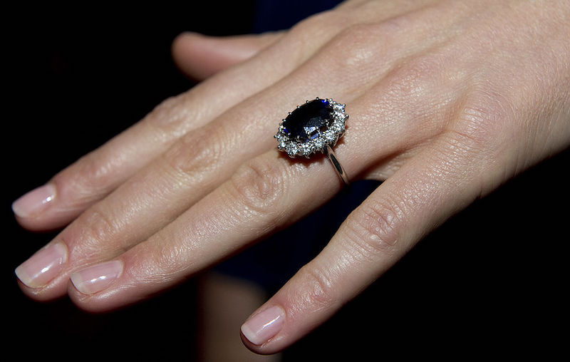 Princess Diana's engagement ring on Kate Middleton