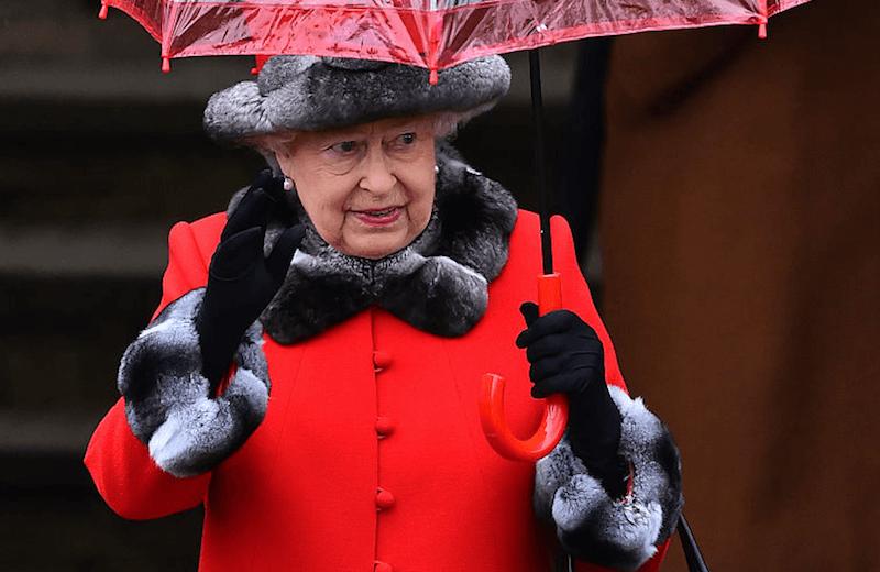Queen Elizabeth waving