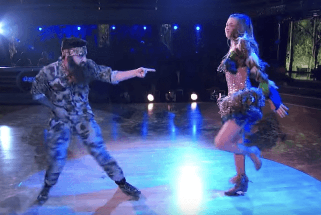 Sadie Robertson and Mark Ballas during their DWTS routine.