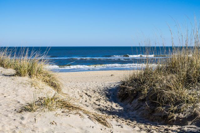 Sandbridge Beach in Virginia Beach,