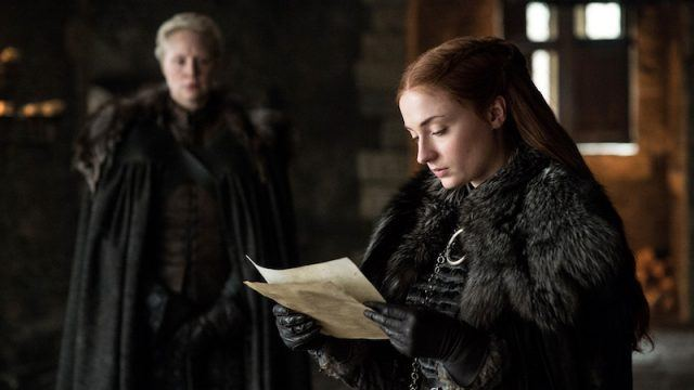 Sansa reads the invitation.