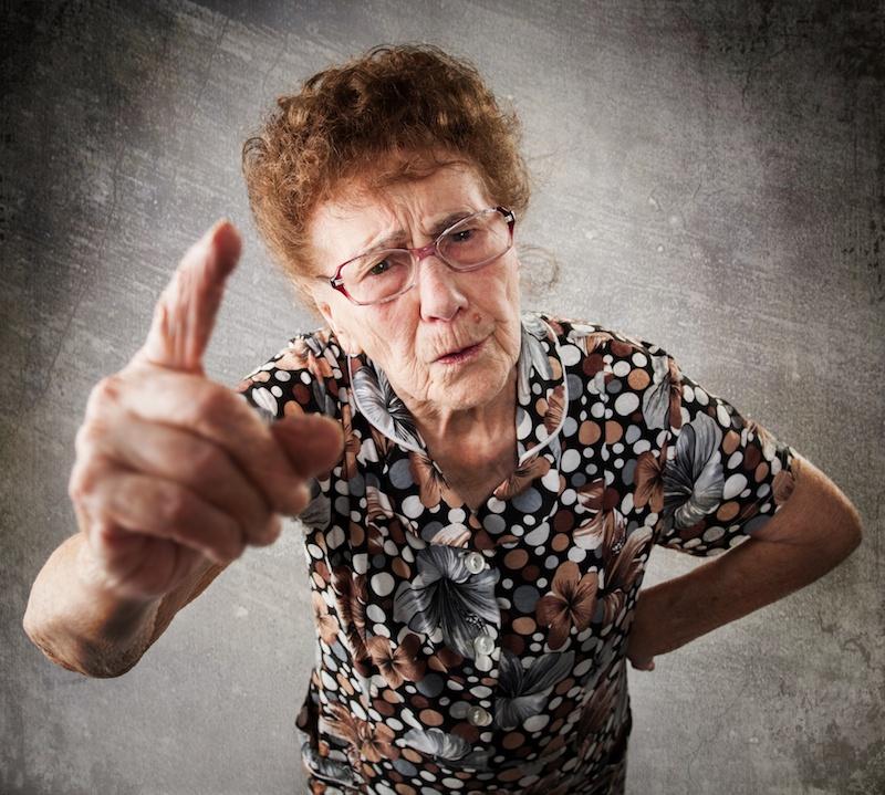 curmudgeon old woman