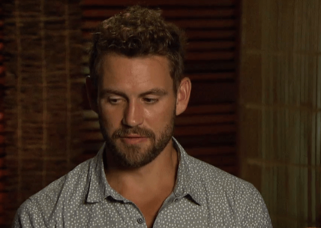 Nick Viall looks uncertain about his relationship with Jasmine.