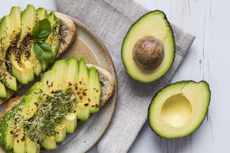 Toast with avocado and cress