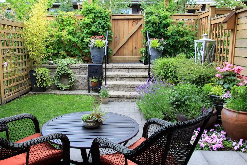 Small townhouse garden
