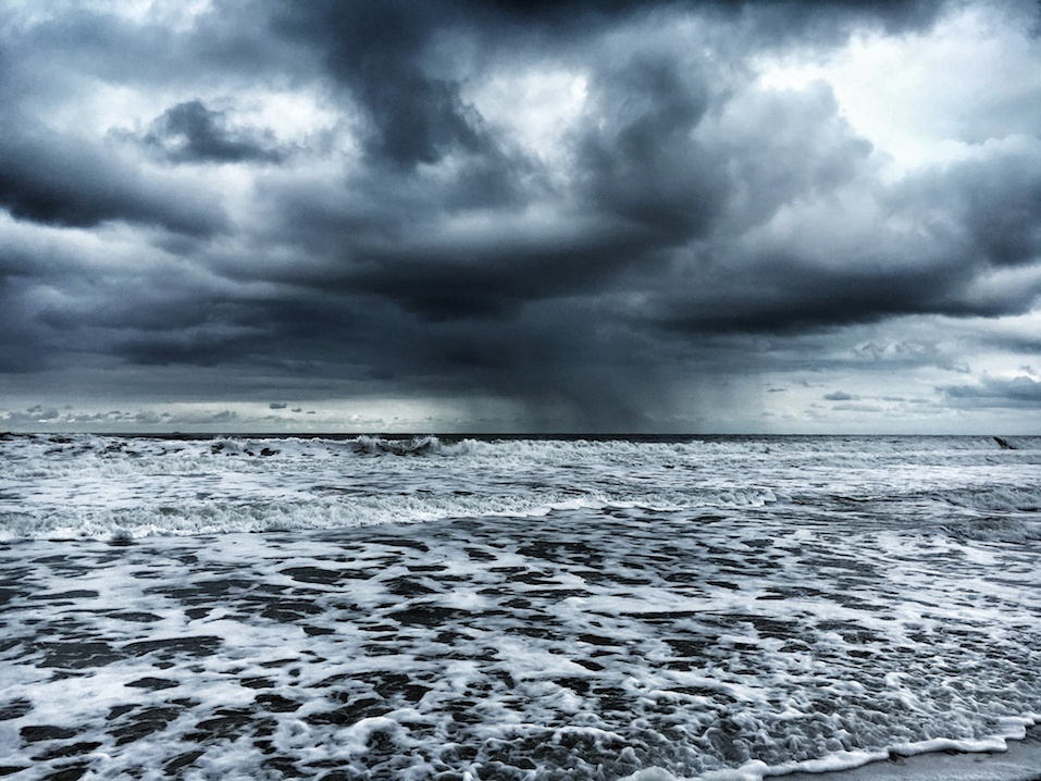 A turbulent North Sea during a storm