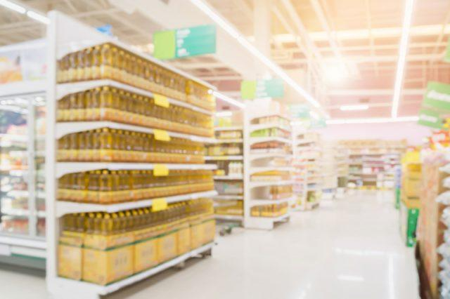 Large and spacious supermarket.