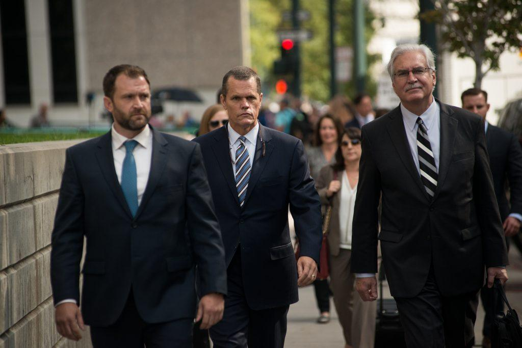Taylor Swift's Attorney Leaves Courthouse