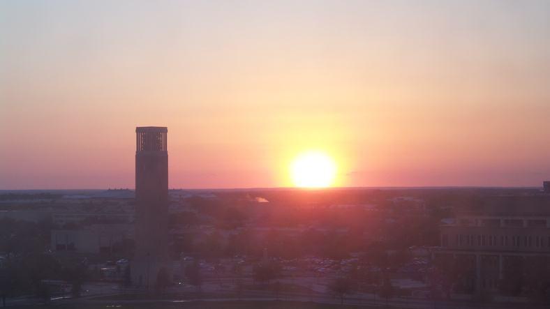 Texas A&M Campus taken during sunset