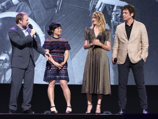 Benicio del Toro shares the stage with some of his Star Wars castmates