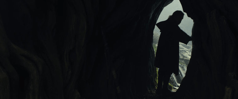Luke Skywalker talks to a mysterious figure in 'The Last Jedi'.