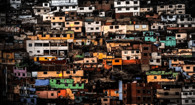 A colorful neighborhood seen in 'The Shaman'.
