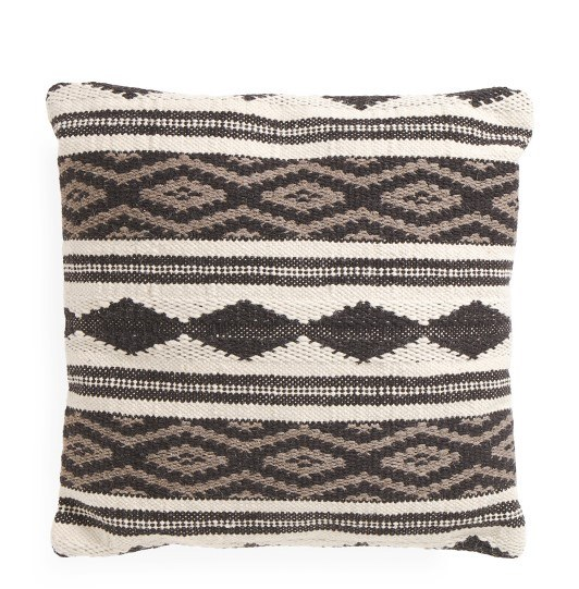 printed accent pillow