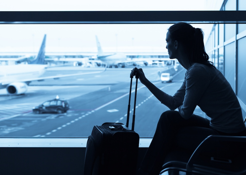 Woman at the airport